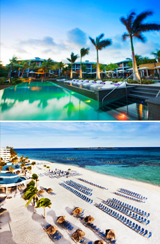 Top: W Retreat & Spa - Vieques Island<br>Bottom: Sheraton Nassau Beach Resort & Casino