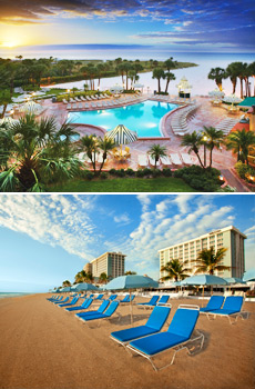 Top: Sheraton Sand Key Resort<br>Bottom: Westin Beach Resort & Spa Fort Lauderdale