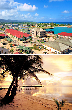 Top: Jamaica<br>Bottom: Cayman Islands