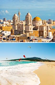 Catedral de Cádiz y playas
