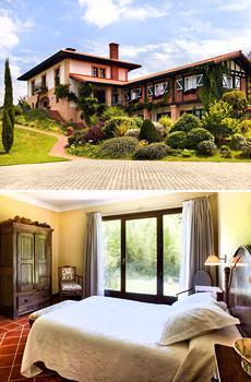 Arriba: Vista exterior del Hotel Ibarra&