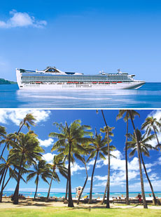 Top: <i>Golden Princess</i><br>Bottom: Honolulu Beach