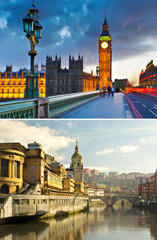 Top: London<br>Bottom: Bilbao