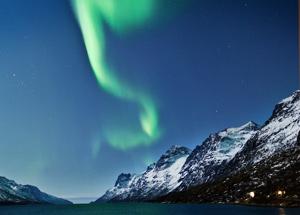 Auroras boreales al norte de Finlandia