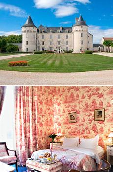 En haut : Château de Marçay <br>En bas : Château d'Artigny