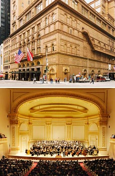 Top: © ESTO/Jeff Goldberg <br>courtesy of Carnegie Hall
