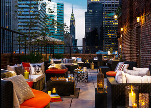 Rooftop Terrace at Renaissance New York Hotel 57