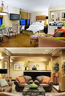 <i>Top: Metropolitan Suite<br>Bottom: Lobby</i>