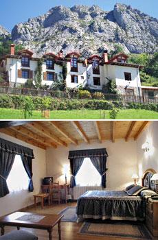 Arriba: Posada El Sestil<br>Abajo: Habitación Doble
