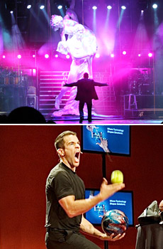 Top: 'Nathan Burton Comedy Magic'<br>Bottom: 'Jeff Civillico: Comedy in Action'
