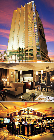 Top: Royal Suites & Towers Shenzhen<br>Middle: Deluxe suite<br>Bottom: Q Cafe