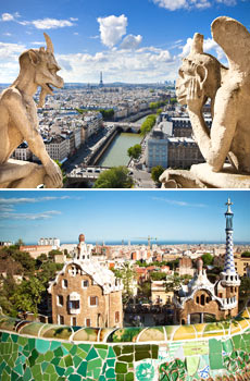 Top: Paris<br>Bottom: Barcelona
