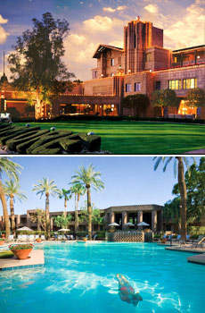 Upper: Arizona Biltmore<br>Lower: DoubleTree Resort by Hilton Paradise Valley