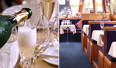 £49 -- Canal Boat Cruise for 2 w/Champagne Dinner, Reg £98