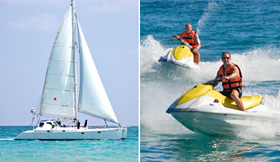 $99 - Catamaran Cruise w/Jet Skiing, Drinks & Food, Half Off