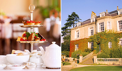 £35 -- Afternoon Tea for 2 w/Bubbly & Spa Access, Reg £78