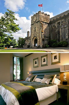 Top: Dartington Hall<br>Bottom: Superior Double Room