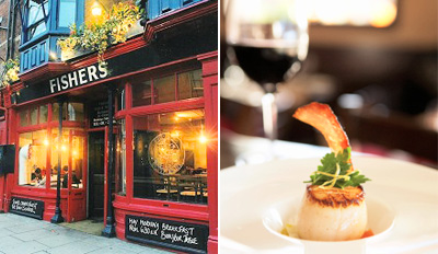 £29 -- Fishers: Oxford's Best Seafood Dinner for 2, Reg £63