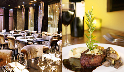 £39 -- Chateaubriand & Champagne Cocktails for 2, Reg £83
