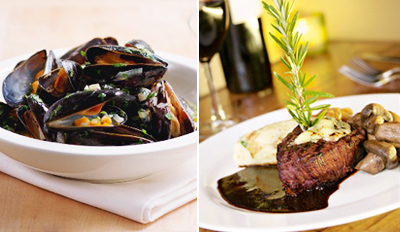 $45 - Old City Steakhouse Dinner for 2 w/Wine, Reg. $92