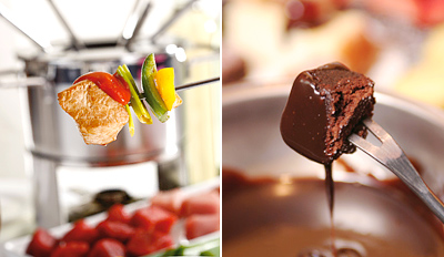 $49 - 4-Course Fondue Dinner for 2 w/Wine, Reg. $104