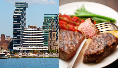 £39 - Liverpool: Waterfront Dinner for 2 inc Bubbly, Reg £82