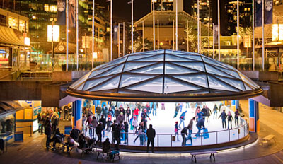 $15 - Ice Skating & Hot Chocolate for 4 in Robson Square