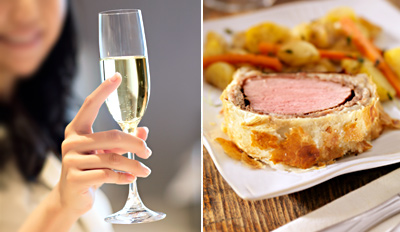 £29 -- 'Tantalising' 3-Course Dinner for 2 w/Bubbly, Reg £65