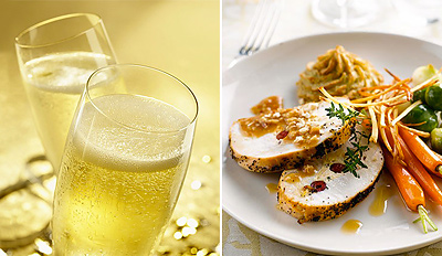 £29 -- 3-Course Festive Meal for 2 with Bubbly, Reg £63