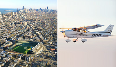 $165 - 2-Hour Private Flight Lesson over Wrigley & The Loop