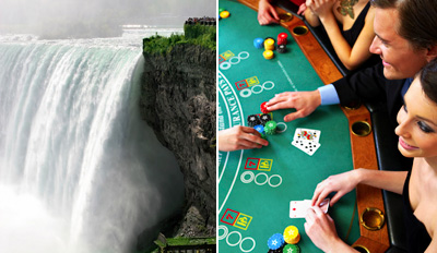 $75 - Niagara Falls Escape Incl. Dinner & Gaming Credit