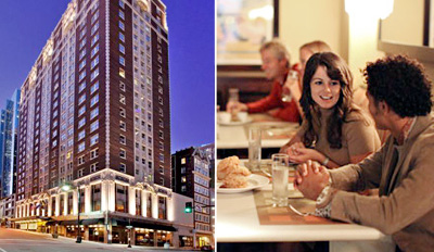 $59 - Hotel Phillips: Stylish Dinner for 2 w/Wine, Reg. $138
