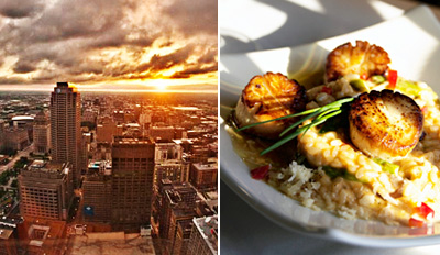 $45 - Kemoll's: Dinner for 2 w/Magnificent 40th-Floor Views