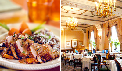 £29 -- Dinner for 2 with Bubbly at Historic Hotel, Reg £62