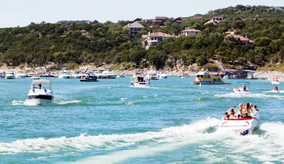 $69 - Lake Travis: Ski Boat or Pontoon for up to 14 People