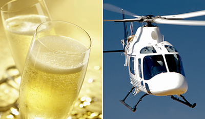 £65 -- Scenic Helicopter Flight with Champagne & Chocolates