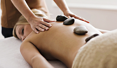 $49 - Hot Stone Massage & Wine at Time Out Pick Spa, 65% Off