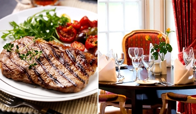 £25 - Sirloin Steak & Champagne Dinner for 2, Reg £59