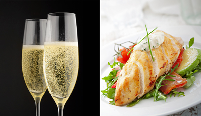 £29 -- Hilton Liverpool: Champagne Dinner for 2, Reg £56