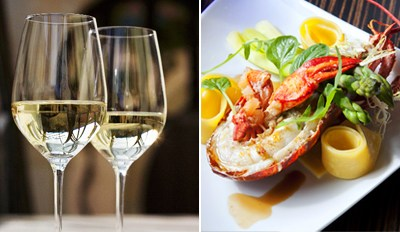 $55 - Zagat-Pick Cafe Espanol: Lobster Dinner for 2 w/Wine