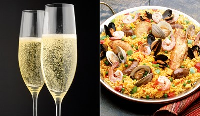 £29 - Spanish Feast for 2 with Bubbly by Thames, Reg £59