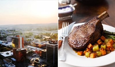 $69 - Plaza Tower: 27th-Floor Private Club Dinner for 2