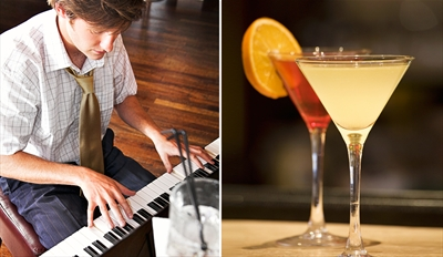 $25 - Dueling Piano Bar: Cocktails & Pizza for 2, Reg. $49