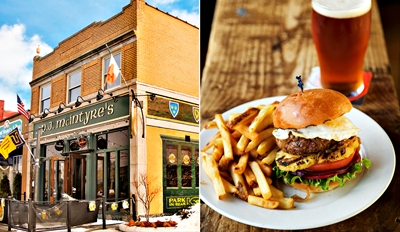 $19 - P.J. McIntyre's: Irish Dinner for 2 w/Drinks, Reg. $45