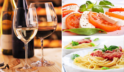 $49 - Rustic Italian Dinner for 2 w/Bottle of Wine, Reg. $99